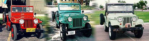 Jeep Models CJ-2A, CJ-3B, CJ-5
