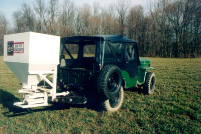 Ron Ingram's CJ3B and seeder
