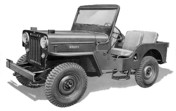 Jeep Side View Drawing Jeep Steps