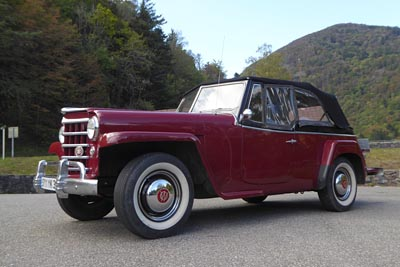 Jeepster low angle