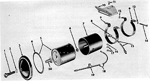 Oil filter in the 1956 Parts List
