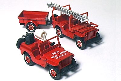 Solido MB Fire Jeeps