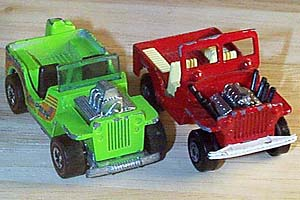 Hot Wheels and Matchbox Hot Rod Jeeps