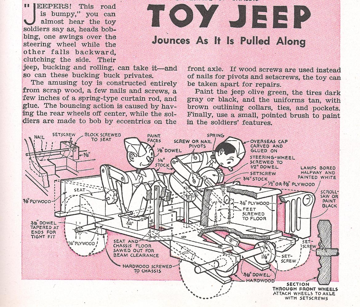 plans for wooden jeep