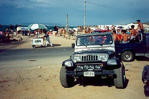 YJ at the beach