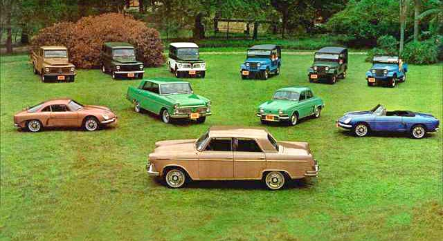 1966 Willys line-up