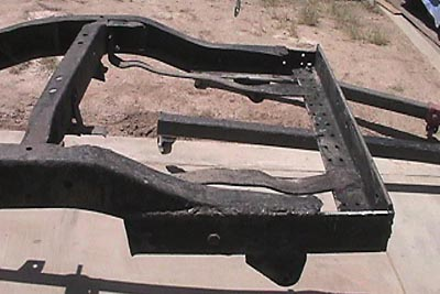 CJ-5 frame rear