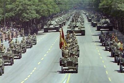 Spanish Army parade